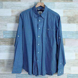 PD&C Flip Cuff Shirt Blue White Striped